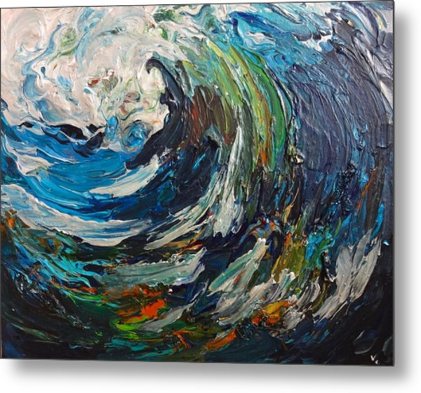 Abstract Wild Wave  Metal Print