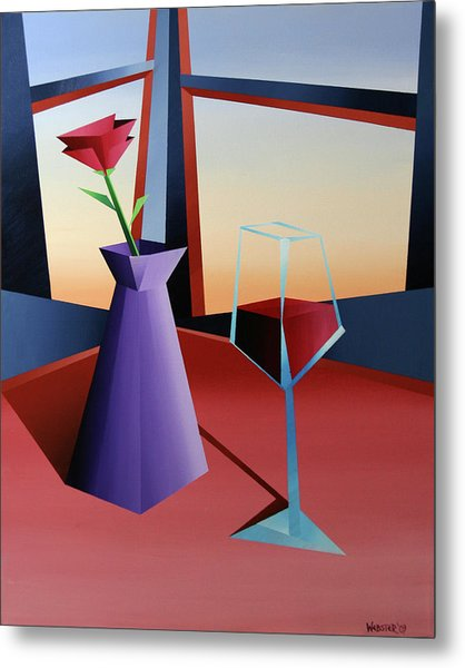 Abstract Wine At Sunset 1 Metal Print