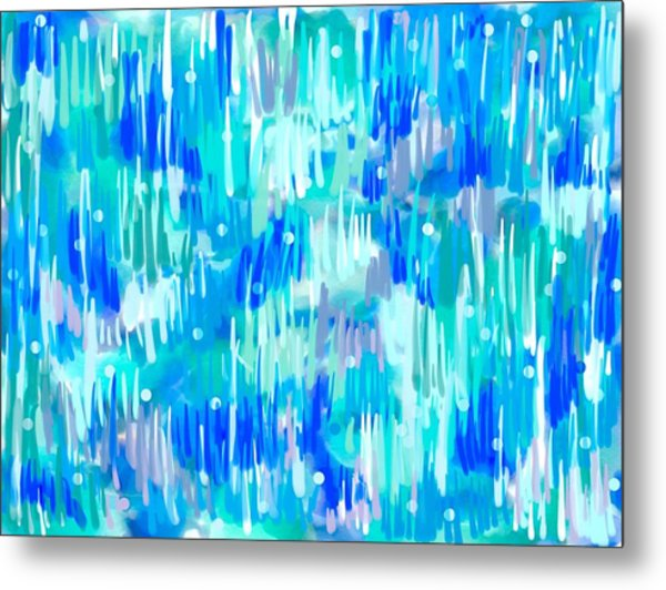 Metal Print featuring the digital art Abstract Winter by Cristina Stefan