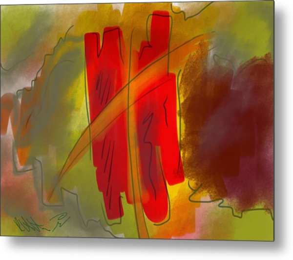 Abstraction Collect 3 Metal Print