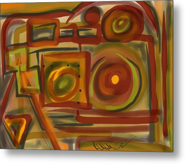 Abstraction Collect 4 Metal Print