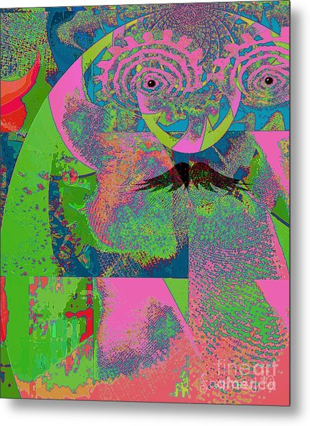 Abstraction Of A New World Metal Print by Fania Simon