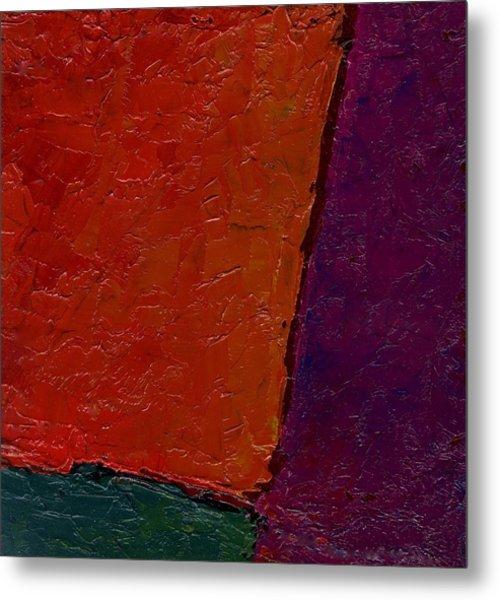 Abstraction Xv Orange Crush Metal Print by Chris  Riley