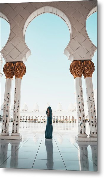 Abu Dhabi Mosque Metal Print