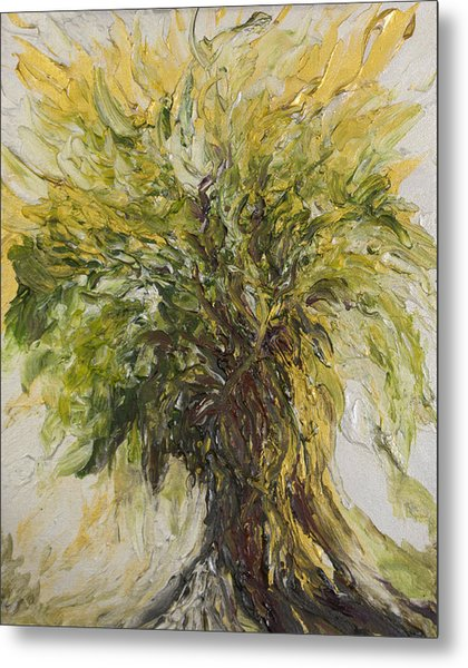 Metal Print featuring the painting Abundance Tree by Michelle Pier