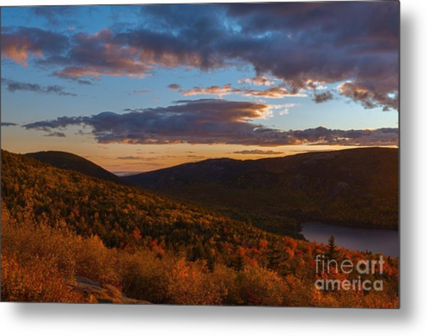Acadia Sunset Metal Print