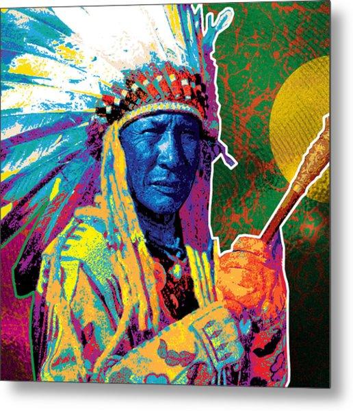 Aceca Indian Chief Metal Print