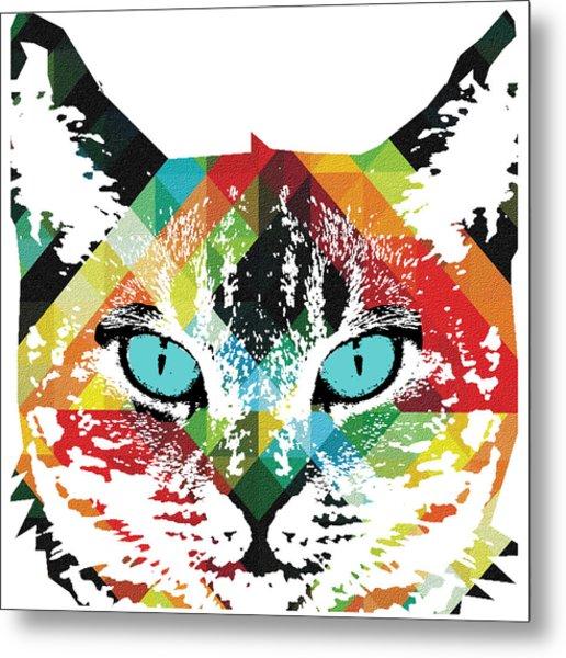 Acid Cat Dream By Robert R Metal Print