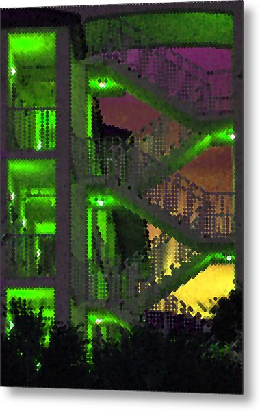Acid Glow Metal Print