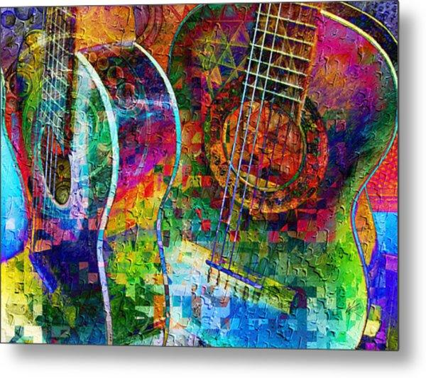 Acoustic Cubed Metal Print
