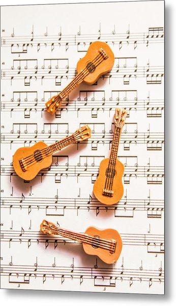 Acoustic Quartet Metal Print