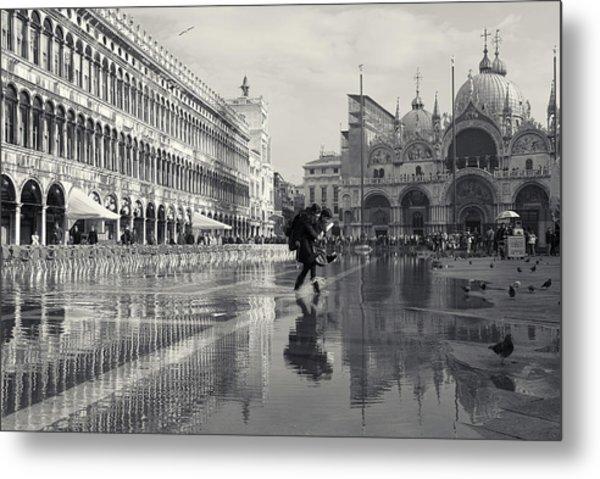 Acqua Alta, Piazza San Marco, Venice, Italy Metal Print