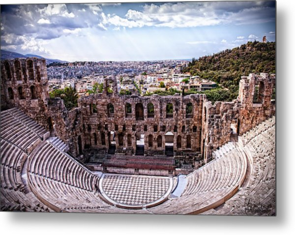 Metal Print featuring the photograph Acropolis by Linda Constant