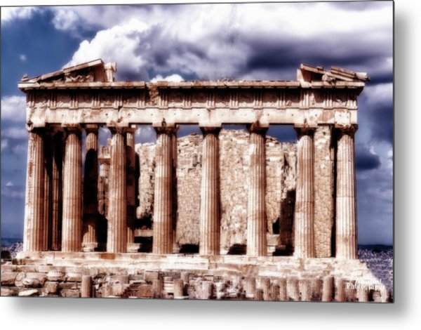 Metal Print featuring the photograph Acropolis Of Greece by Linda Constant