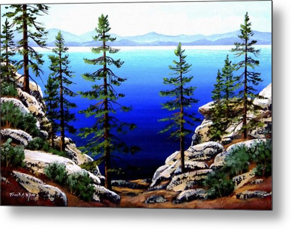 Across Lake Tahoe Metal Print
