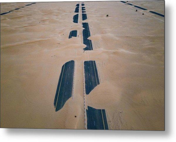 Across Sahara Metal Print