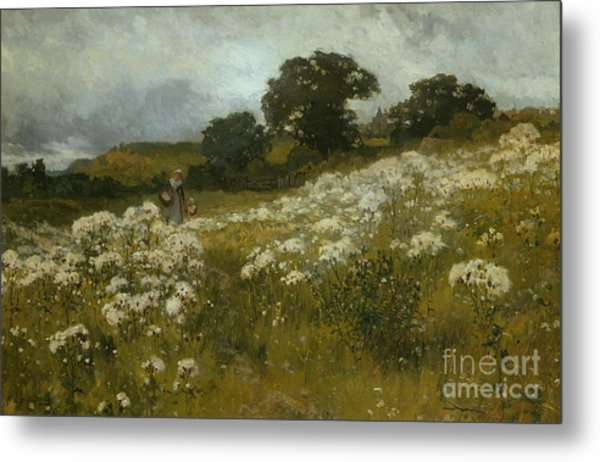 Across The Fields Metal Print