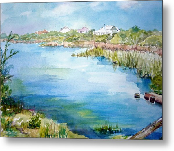 Across The Lake Metal Print by Dorothy Herron