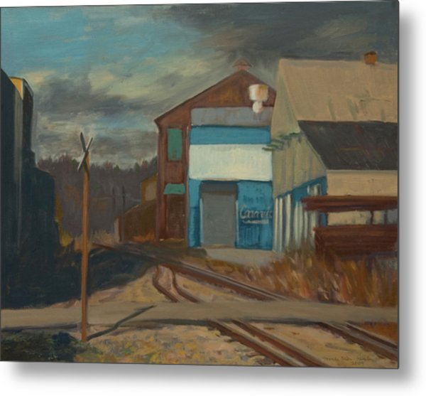 Across The Tracks Metal Print by Martha Ressler