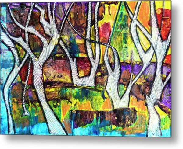 Acrylic Forest  Metal Print