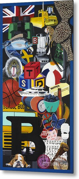 Acrylic Painting Letter B Metal Print by Scott Duffy
