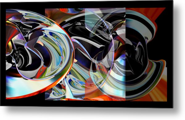 Metal Print featuring the digital art Action Works - D E M by rd Erickson