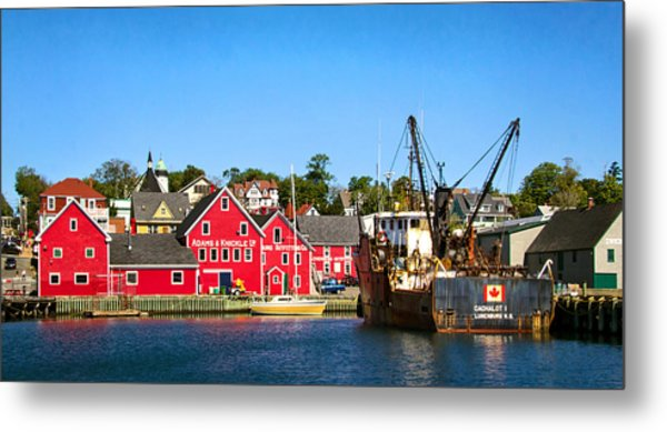 Adams And Knickle Fishing Company Metal Print