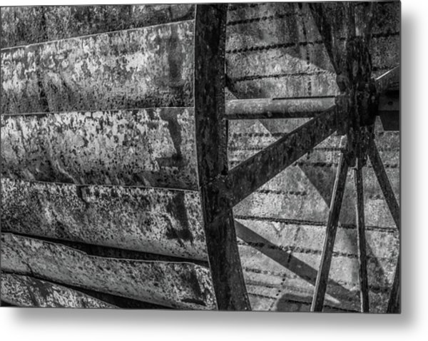 Adam's Mill Water Wheel Metal Print