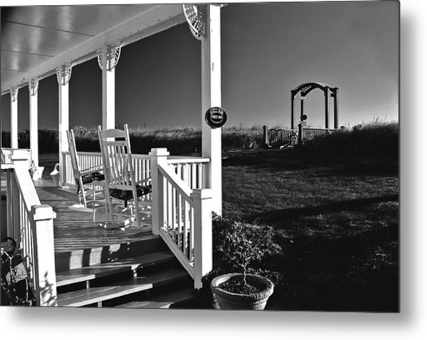 Addy Sea Front Porch Metal Print