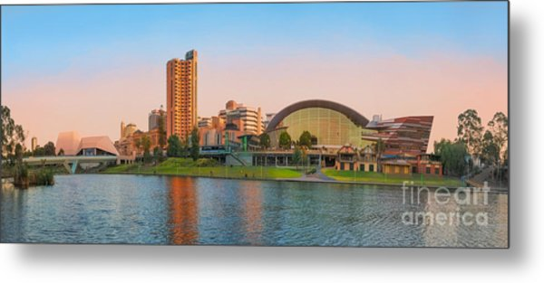 Adelaide Riverbank Panorama Metal Print