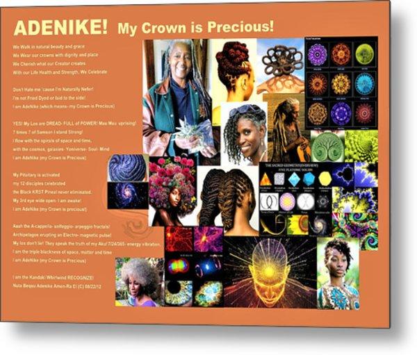 Adenike My Crown Is Precious Metal Print