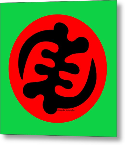 Adinkra Symbol Gye Nyame Except God Only God Metal Print