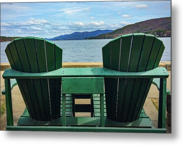 Adirondack Chair For Two Metal Print