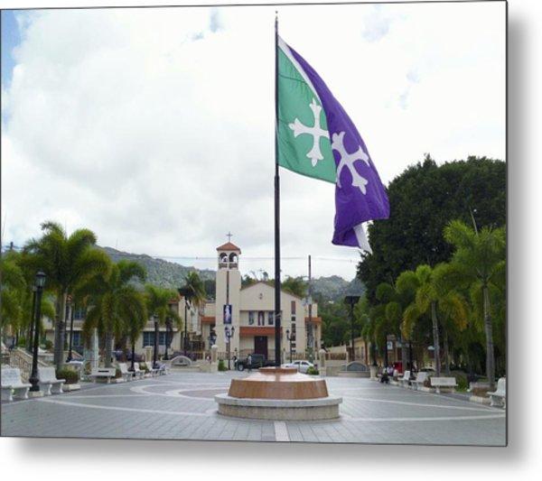 Adjuntas, Puerto Rico Flag Metal Print