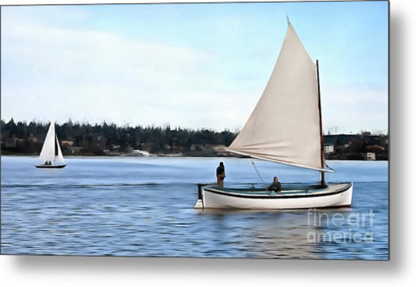 Metal Print featuring the photograph Admirable Sailing On Lake Union by Susan Parish