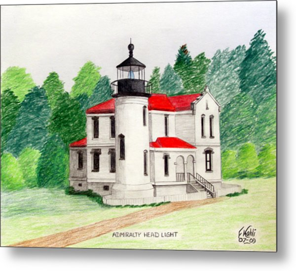 Admiralty Head Light Metal Print by Frederic Kohli