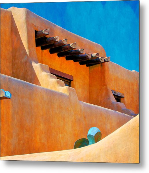 Adobe Levels, Santa Fe, New Mexico Metal Print