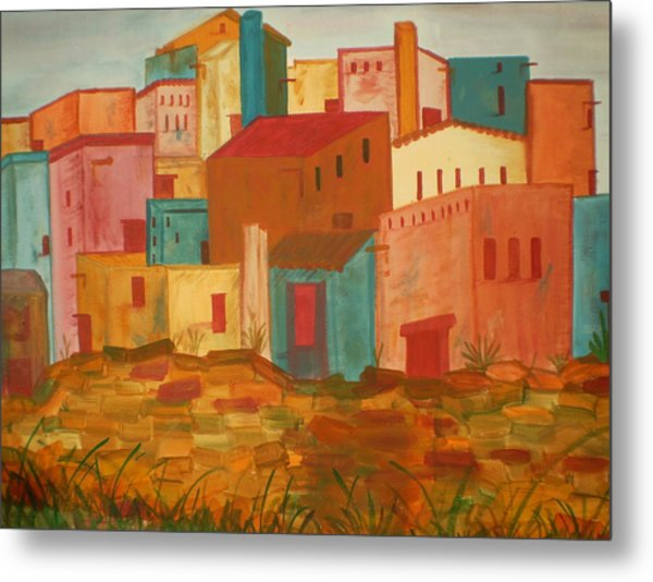 Adobe Village Metal Print