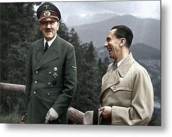 Adolf Hitler Joseph Goebbels Berghof Retreat  Number 2 Agfacolor Heinrich Hoffman Photo Circa 1942 Metal Print