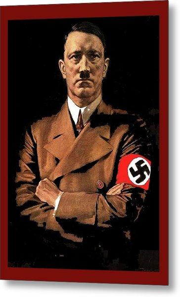 Adolf Hitler Painting Circa  1940 Color Added 2016 Metal Print