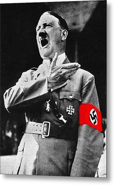 Adolf Hitler Ranting 1  Metal Print