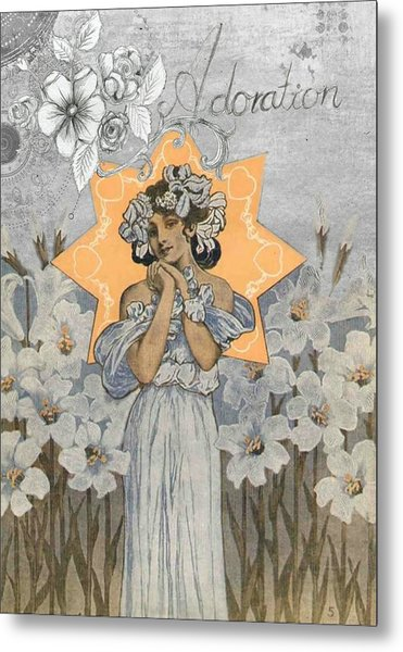 Adoration Art Deco Metal Print