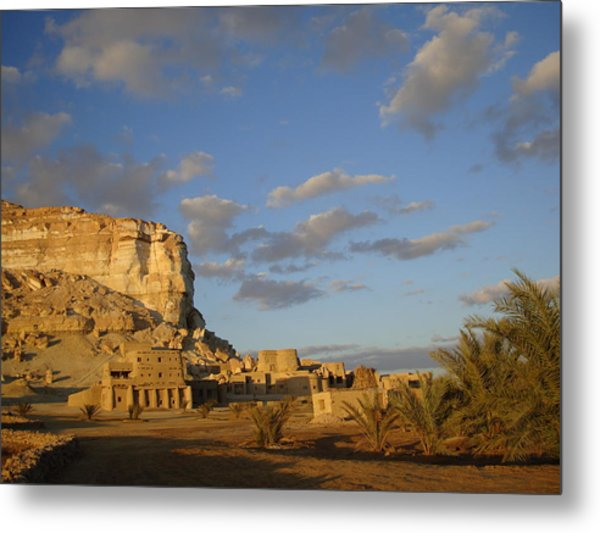 Adrere Amellal Metal Print by Rania El Maghraby
