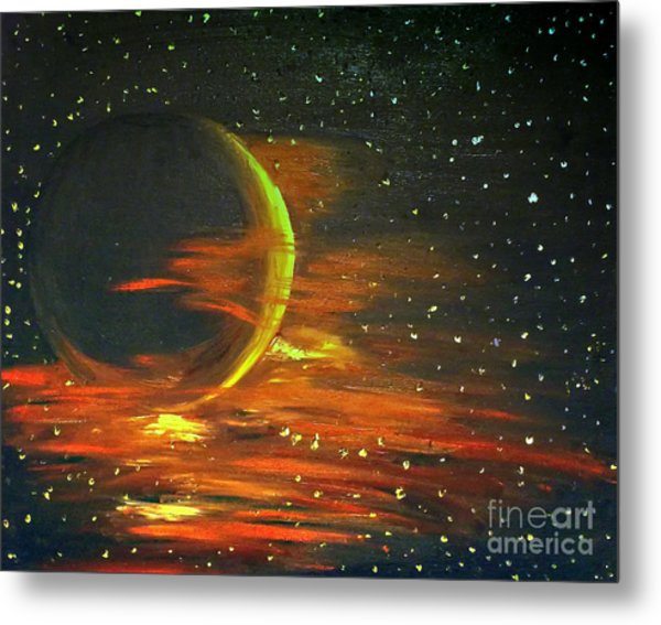 Adrift - In Space Metal Print