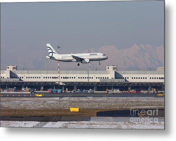 Aegean Airbus A320 003 - Sx-dvt Metal Print