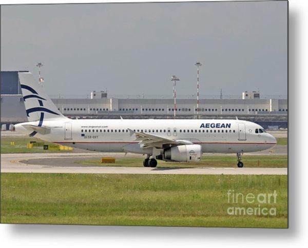 Aegean Airbus A320 Sx-dvt  Metal Print