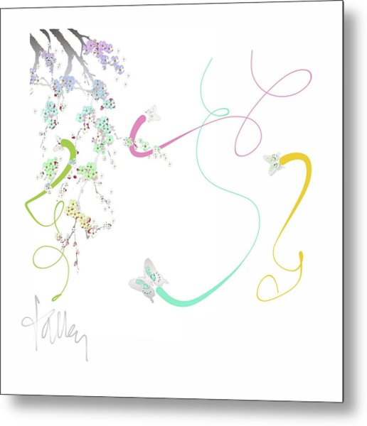 Metal Print featuring the mixed media Spring Fervor by Larry Talley