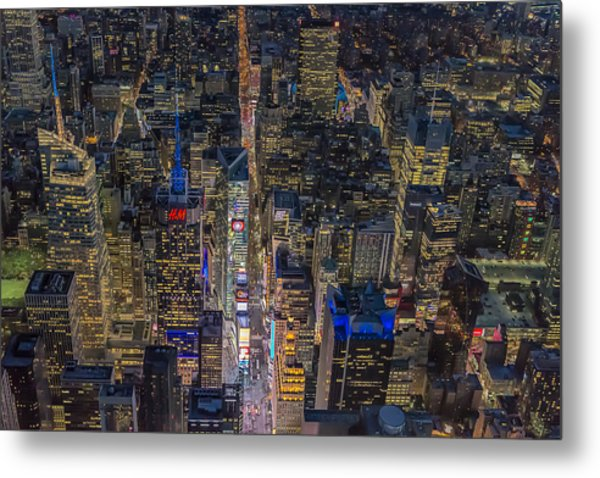 Aerial New York City 42nd Street Metal Print