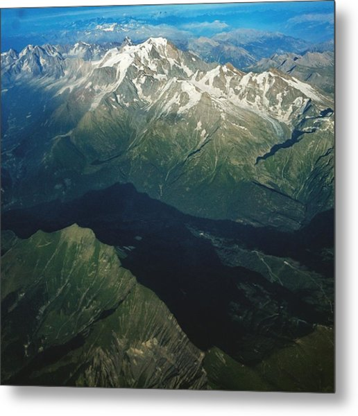 Aerial Photograph Of The Swiss Alps Metal Print