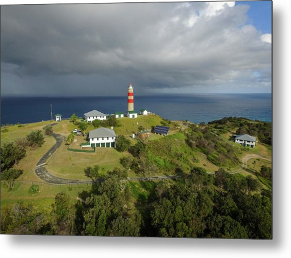 Aerial View Of Cape Moreton Lighthouse Precinct Metal Print
